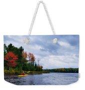 Kayaking In Autumn Weekender Tote Bag