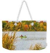 Kayaking In Fall Weekender Tote Bag