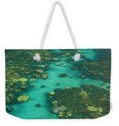 Kayaking Through Beautiful Coral Weekender Tote Bag