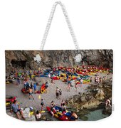 Kayaks On A Beach Weekender Tote Bag