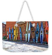 Kayaks On A Wall  Weekender Tote Bag