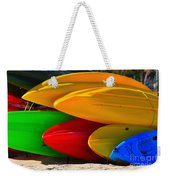 Kayaks On The Beach Weekender Tote Bag