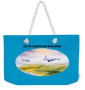 Kc-130 Tanker Aircraft And Pave Hawk With Banner Weekender Tote Bag