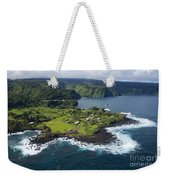 Keanae Peninsula Aerial Weekender Tote Bag