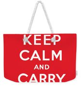 Keep Calm And Carry On Weekender Tote Bag