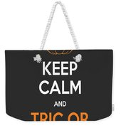 Keep Calm And Trick Or Treat Halloween Sign Weekender Tote Bag