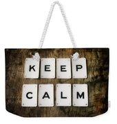 Keep Calm Weekender Tote Bag