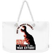 Keep The Wheels Turning - Ww2 Weekender Tote Bag