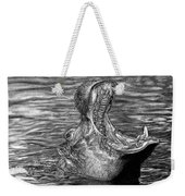 Keeper Of The Swamp - African Hippo Weekender Tote Bag