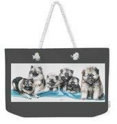 Keeshond Puppies Weekender Tote Bag