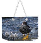 Kelp Goose With Goslings Weekender Tote Bag