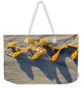 Kelp Washed Onto The Sand At Carmel Weekender Tote Bag