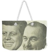 Kennedy For President Johnson For Vice President Weekender Tote Bag