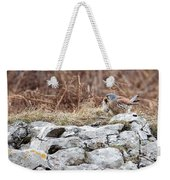 Kestrel With Prey Weekender Tote Bag