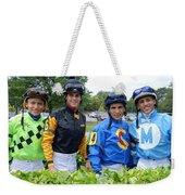 Kevin Gomez, Jomar Torres, Horacio Karamanos And Jevian Toledo - Laurel Park Weekender Tote Bag