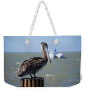 Key Largo Florida Pelican Yacht Weekender Tote Bag