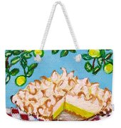 Key Lime Pie Mini Painting Weekender Tote Bag