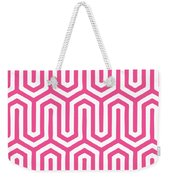 Key Maze With Border In French Pink Weekender Tote Bag