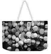 Key West Lobster Buoys Black And White Weekender Tote Bag