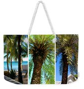 Key West Palm Triplets Weekender Tote Bag by Susanne Van Hulst