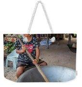 Khmer Girl Makes Sugar Cane Candy Weekender Tote Bag