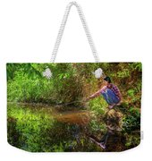 Khmer Woman Fishing - Cambodia Weekender Tote Bag