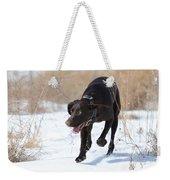 Kicking Up Some Snow Weekender Tote Bag