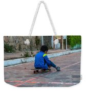Kid Skateboarding Weekender Tote Bag