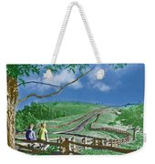Kids On A Fence Weekender Tote Bag