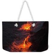 Kilauea Volcano Lava Flow Sea Entry - The Big Island Hawaii Weekender Tote Bag