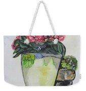 Kimberly's Castellabate Flower Pot Weekender Tote Bag by Clyde J Kell