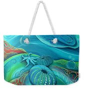 Kina Sea Anemone With  Stingray By Reina Cottier Weekender Tote Bag