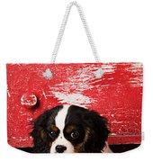 King Charles Cavalier Puppy  Weekender Tote Bag