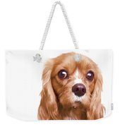 King Charles Spaniel Puppy Weekender Tote Bag by Edward Fielding