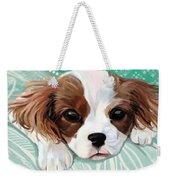 Spaniel Puppy Resting Weekender Tote Bag