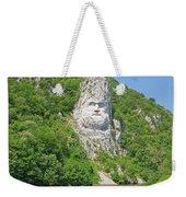 King Decebal, Rock Sculpture Weekender Tote Bag