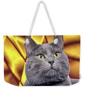 King Kitty With Golden Eyes Weekender Tote Bag