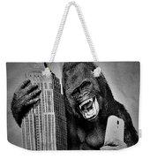 King Kong Selfie B W  Weekender Tote Bag
