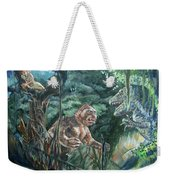 King Kong Vs T-rex Weekender Tote Bag