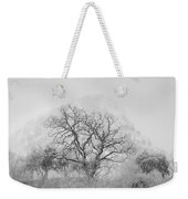King Mountain Monochrome Weekender Tote Bag