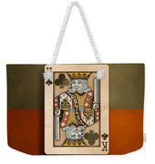 King Of Clubs In Wood Weekender Tote Bag
