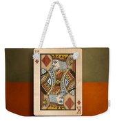 King Of Diamonds In Wood Weekender Tote Bag