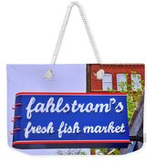 King Of Fish Fish Market  Weekender Tote Bag