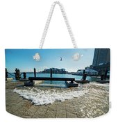 King Tide On The Boston Waterfront Boston Ma Weekender Tote Bag