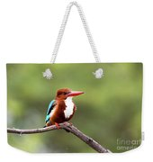 Kingfisher On A Limb Weekender Tote Bag