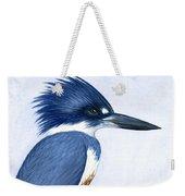 Kingfisher Portrait Weekender Tote Bag