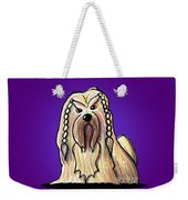 Kiniart Lhasa Apso Braided Weekender Tote Bag