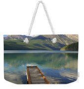 Kintla Lake Dock Weekender Tote Bag