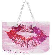 Kiss Like You Mean It Weekender Tote Bag