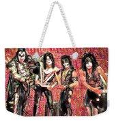 Kiss Watercolor Weekender Tote Bag